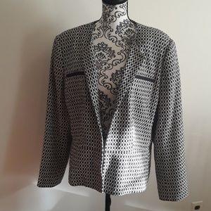 Worthington Black Ivory print jacket 18